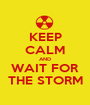 KEEP CALM AND WAIT FOR THE STORM - Personalised Poster A1 size