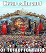KEEP CALM AND WAIT FOR TOMMOROWLAND 2015 - Personalised Poster A1 size
