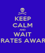 KEEP CALM AND WAIT PIRATES AWARD - Personalised Poster A1 size