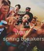 KEEP CALM AND WAIT   spring breakers - Personalised Poster A1 size