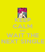 KEEP CALM AND WAIT THE NEXT SINGLE - Personalised Poster A1 size