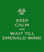 KEEP CALM AND WAIT TILL EMERALD WINS! - Personalised Poster A1 size