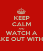KEEP CALM AND WATCH A PENGUIN MAKE OUT WITH A SQUIRREL - Personalised Poster A1 size
