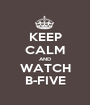 KEEP CALM AND WATCH B-FIVE - Personalised Poster A1 size