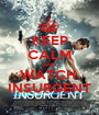 KEEP CALM AND WATCH  INSURGENT - Personalised Poster A1 size