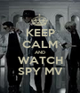 KEEP CALM AND WATCH SPY MV - Personalised Poster A1 size