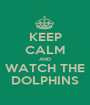 KEEP CALM AND WATCH THE DOLPHINS - Personalised Poster A1 size