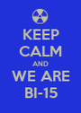 KEEP CALM AND WE ARE BI-15 - Personalised Poster A1 size