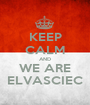 KEEP CALM AND WE ARE ELVASCIEC - Personalised Poster A1 size
