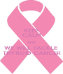 KEEP CALM AND WE WILL TACKLE  THYROID CANCER - Personalised Poster A1 size