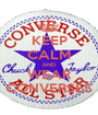 KEEP CALM AND WEAR CONVERSES - Personalised Poster A1 size