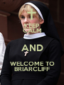 KEEP CALM AND WELCOME TO BRIARCLIFF - Personalised Poster A1 size