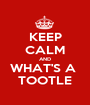 KEEP CALM AND WHAT'S A  TOOTLE - Personalised Poster A1 size