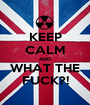 KEEP CALM AND WHAT THE FUCK?! - Personalised Poster A1 size