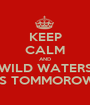 KEEP CALM AND WILD WATERS IS TOMMOROW - Personalised Poster A1 size
