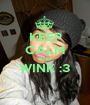 KEEP CALM AND WINK :3  - Personalised Poster A1 size