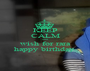 KEEP CALM and wish for rara happy birthday  - Personalised Poster A1 size