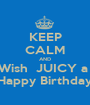 KEEP CALM AND Wish  JUICY a  Happy Birthday - Personalised Poster A1 size