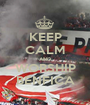 KEEP CALM AND WORSHIP BENFICA - Personalised Poster A1 size