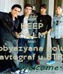 KEEP CALM AND ya obyazyana polu4it' avtograf u BTR - Personalised Poster A1 size