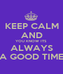 KEEP CALM AND YOU KNOW ITS  ALWAYS A GOOD TIME - Personalised Poster A1 size