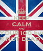 KEEP CALM AND YOUR 100 but YOUR NOT DEAD YETT - Personalised Poster A1 size