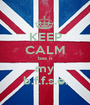 KEEP CALM bea is my b.f.f.s.e. - Personalised Poster A1 size