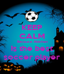 KEEP CALM Because Abishan Is the best soccer player - Personalised Poster A1 size