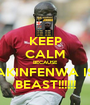 KEEP CALM BECAUSE AKINFENWA IS BEAST!!!!!! - Personalised Poster A1 size