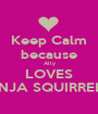 Keep Calm because Ally LOVES NINJA SQUIRREL 2 - Personalised Poster A1 size