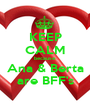 KEEP CALM because Ana & Berta are BFF's - Personalised Poster A1 size
