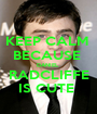 KEEP CALM  BECAUSE  DANIEL  RADCLIFFE IS CUTE  - Personalised Poster A1 size