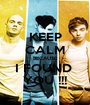 KEEP CALM BECAUSE I FOUND  YOU !!! - Personalised Poster A1 size