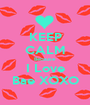 KEEP CALM Because  I Love Bae XOXO - Personalised Poster A1 size