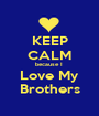 KEEP CALM because I  Love My  Brothers  - Personalised Poster A1 size