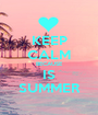 KEEP CALM BECAUSE IS SUMMER - Personalised Poster A1 size