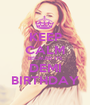 KEEP CALM BECAUSE ITS DEMI BIRTHDAY - Personalised Poster A1 size