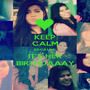 KEEP CALM BECAUSE IT'S HER BIRTHDAAAY - Personalised Poster A1 size