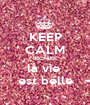KEEP CALM BECAUSE la vie  est belle - Personalised Poster A1 size