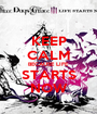 KEEP CALM BECAUSE LIFE STARTS NOW - Personalised Poster A1 size
