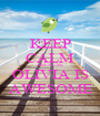 KEEP CALM BECAUSE OLIVIA IS AWESOME - Personalised Poster A1 size