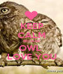 KEEP CALM BECAUSE OWL  LOVE YOU - Personalised Poster A1 size