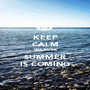 KEEP CALM BECAUSE SUMMER IS COMING - Personalised Poster A1 size