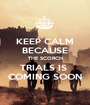 KEEP CALM BECAUSE THE SCORCH TRIALS IS  COMING SOON - Personalised Poster A1 size