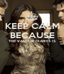 KEEP CALM BECAUSE THE VAMPIRE DIARIES IS   - Personalised Poster A1 size