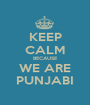 KEEP CALM BECAUSE WE ARE PUNJABI - Personalised Poster A1 size