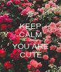 KEEP CALM BECAUSE YOU ARE CUTE - Personalised Poster A1 size