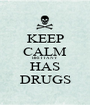 KEEP CALM BRITTANY HAS DRUGS - Personalised Poster A1 size