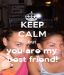 KEEP CALM but you are my best friend! - Personalised Poster A1 size