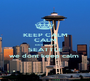 KEEP CALM CALM bitch im from SEATTLE we dont keep calm  - Personalised Poster A1 size